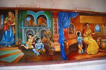 The Blue Boy is Krishna, The Other Boy is Balaram