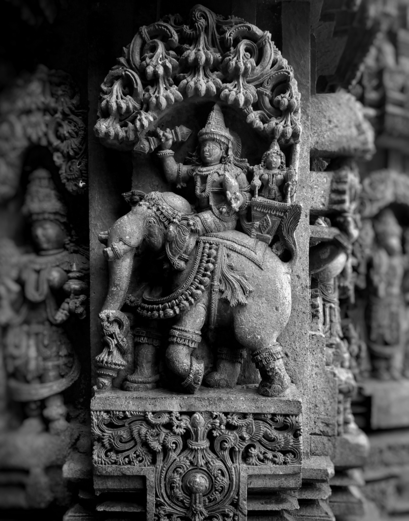 Lord Indra sitting on his elephant, Airavata