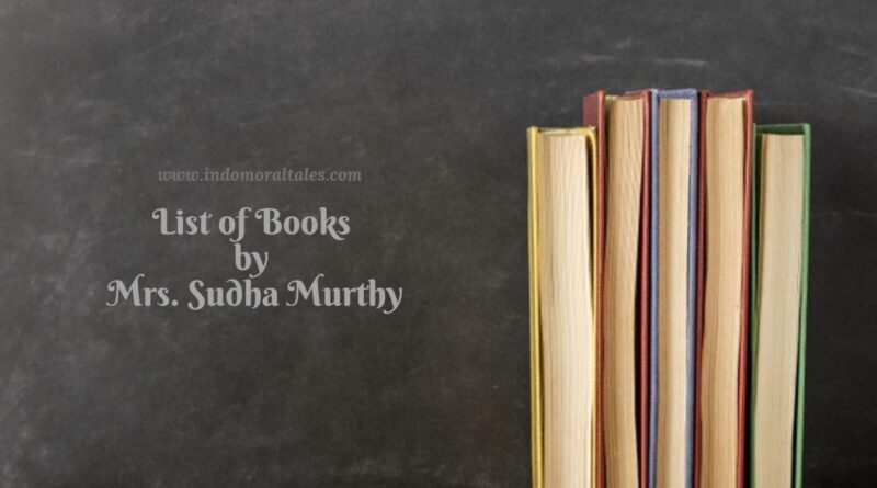 List of Books by Sudha Murthy