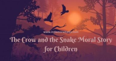 Snake and Crow Story in English for Kids