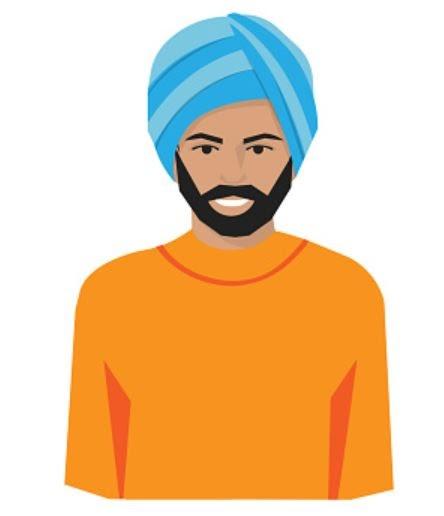 Akbar as Village Man