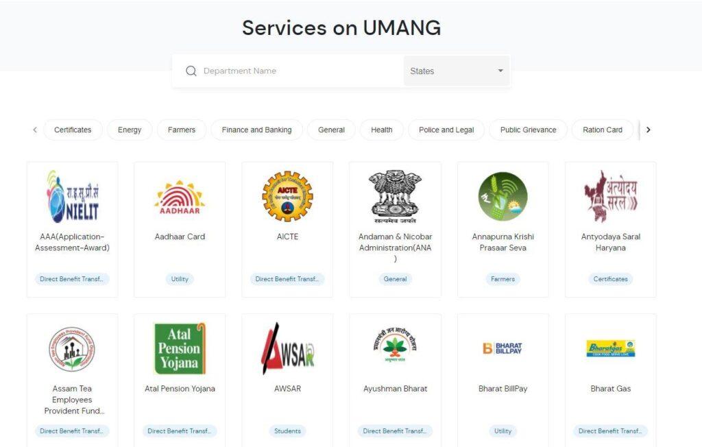 UMANG services