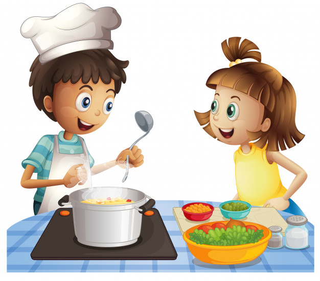 cooking boys clipart