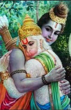 Hanuman and Ram