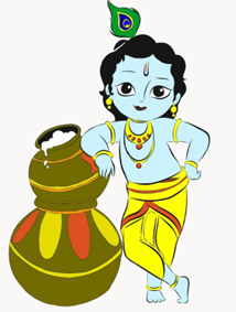 krishna and butter