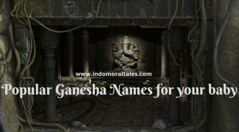 Trendy Names of Ganesha For Baby in Hindi