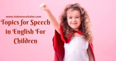 Speech topics for children