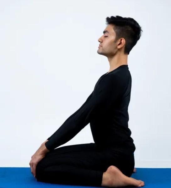 Virasana Yoga Pose